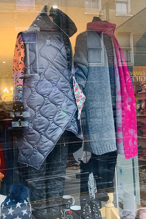 Quilted Gillet with Hood