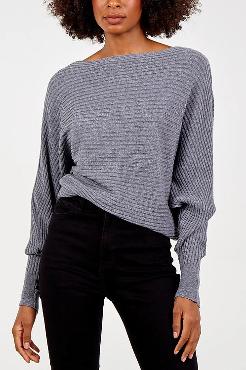Batwing Ribbed Jumper