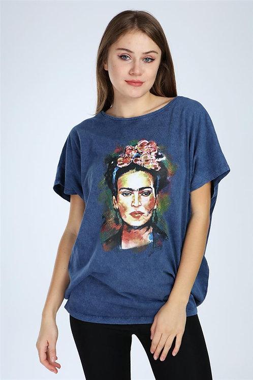 Frida Kahlo Stone Washed Top