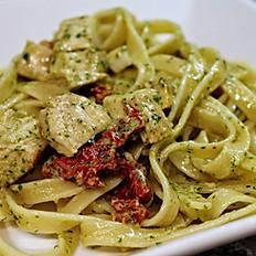 Chicken Pesto Fettucine