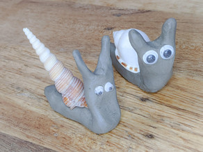 Cute Clay Snails