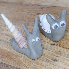 Cute Clay Snails
