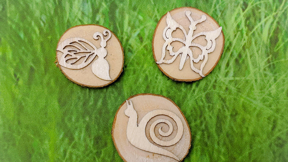 Natural play dough stamps