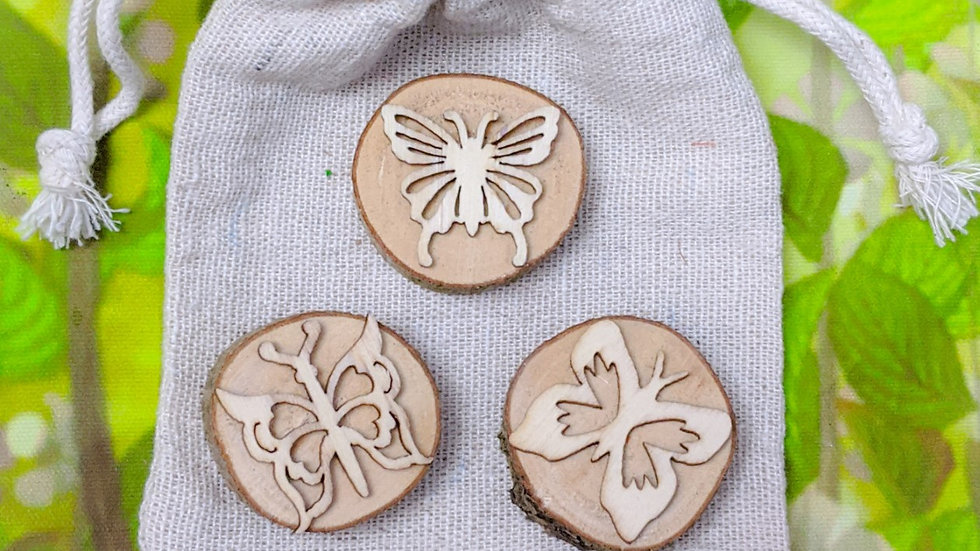 Natural playdough stamp set (butterfly)