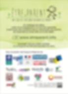 carte postale etre parent verso, explication du projet, contact, logos des partenaires