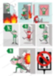 Richtiges Verhalten bei einem Brandfall