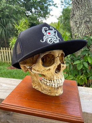 Black Snapback Trucker Hat