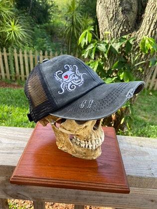 Grey Weathered Trucker Hat