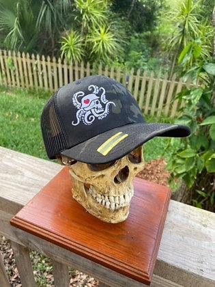 Black Multi Cam Trucker Hat