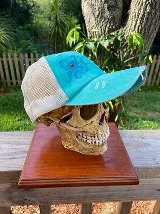 Ladies Teal Weathered Trucker Hat