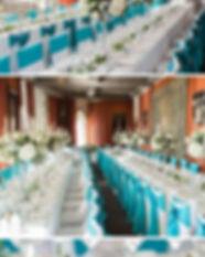 Turquoise wedding Leeds Castle