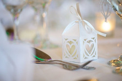 Cut Heart wedding handmade favour box