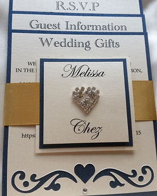 Flat flourish style wedding invitation