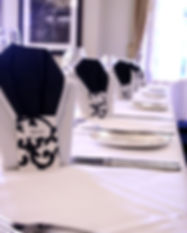 Flat black and white flourish wedding placecards