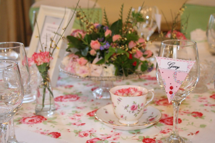 Cath Kidston inspired handmade wedding table stationery
