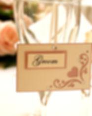 Flourish hanging placecard blush