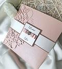 Laser cut pocketfold wedding invitation