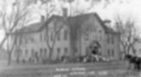 1905 Orig School with kids out.jpg