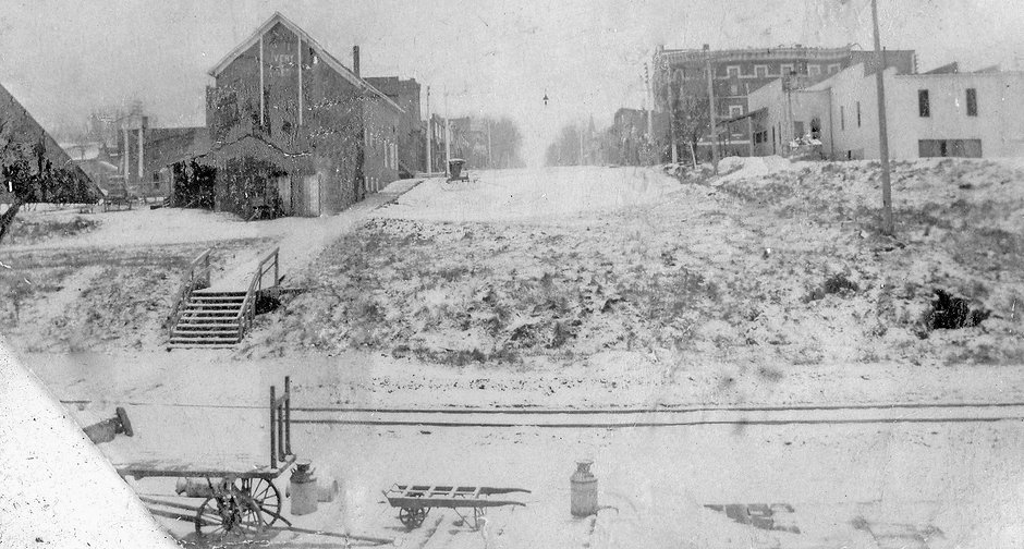 1881 downtown looking north from Depot -