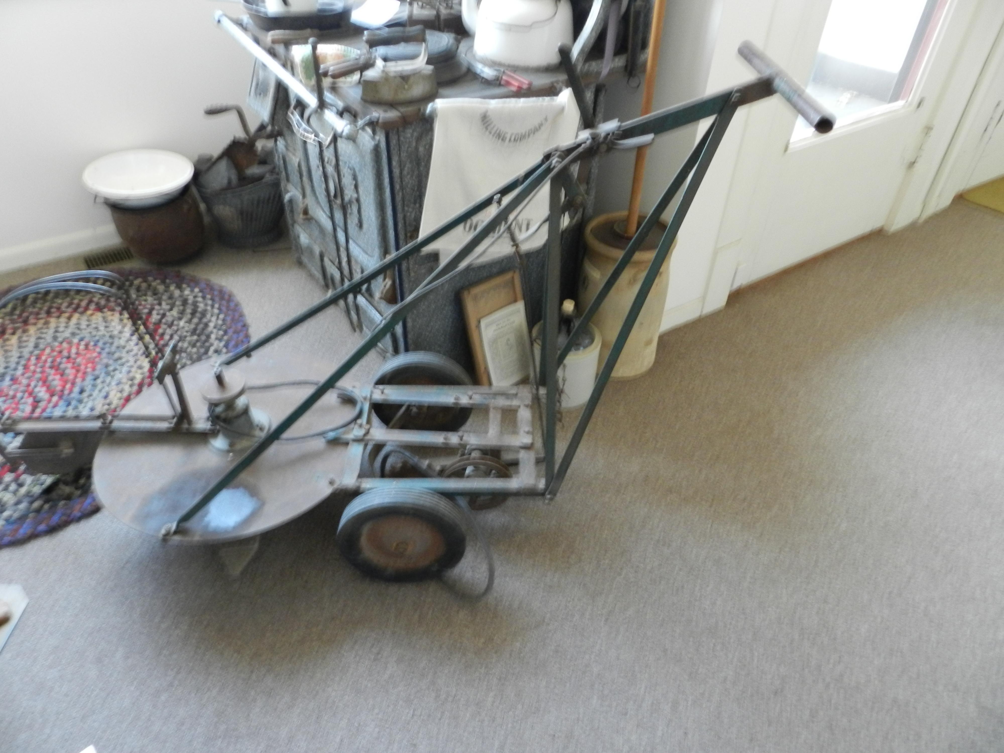 AJ Hansen's home-made mower