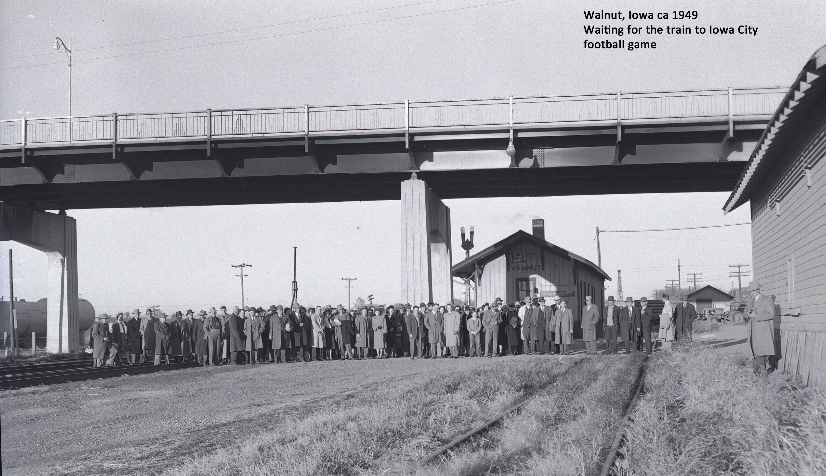 1949 football fans to Iowa City