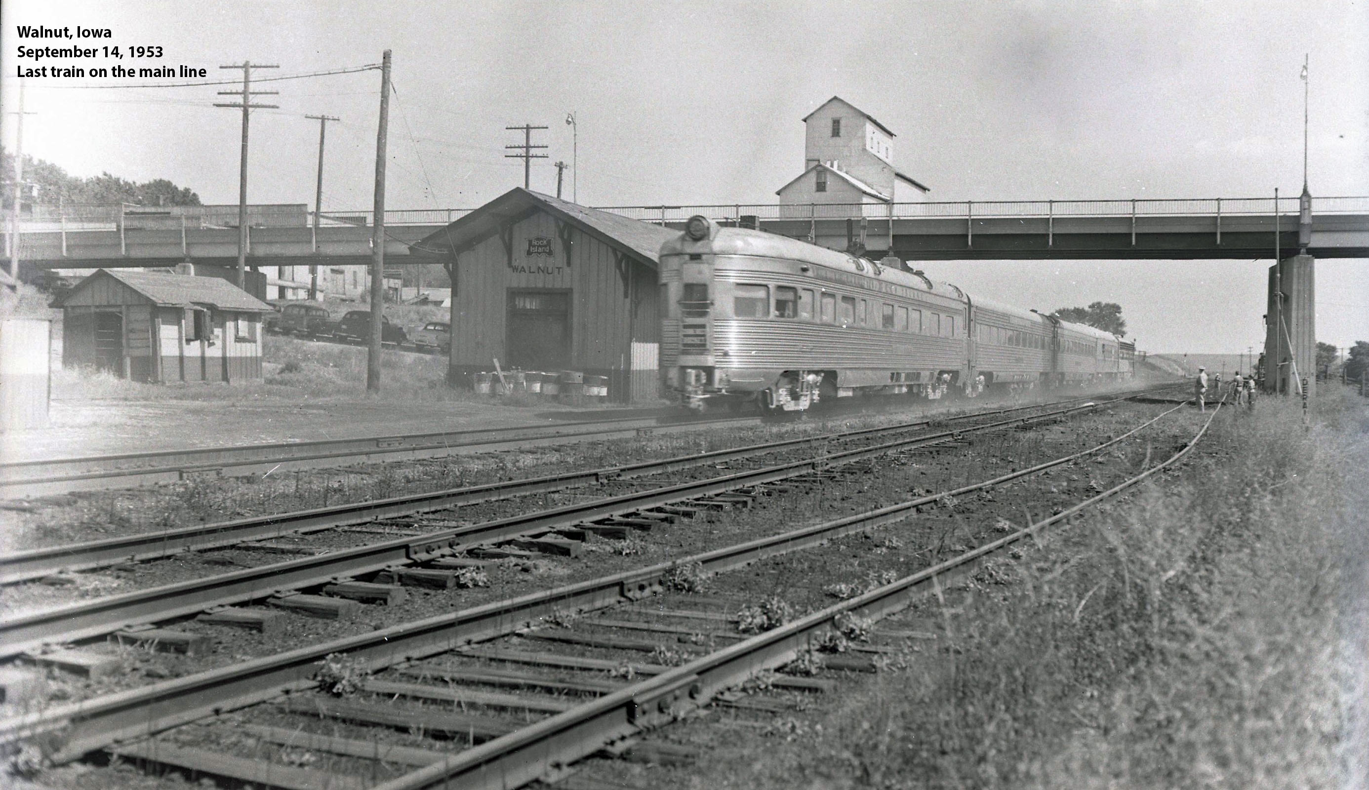 depot Sept 1953 last train for the mainline