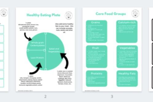 Digital Meal Planner Package
