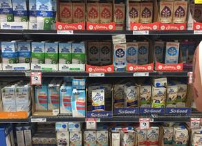 What plant-based milks contain calcium?