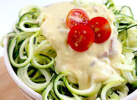 Creamy Vegan Carbonara with Zoodles