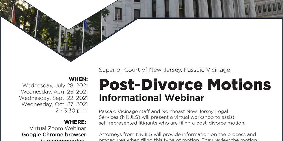 Post-Divorce Motions Informational Webinar