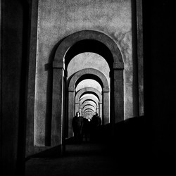 arcades, light, shadows
