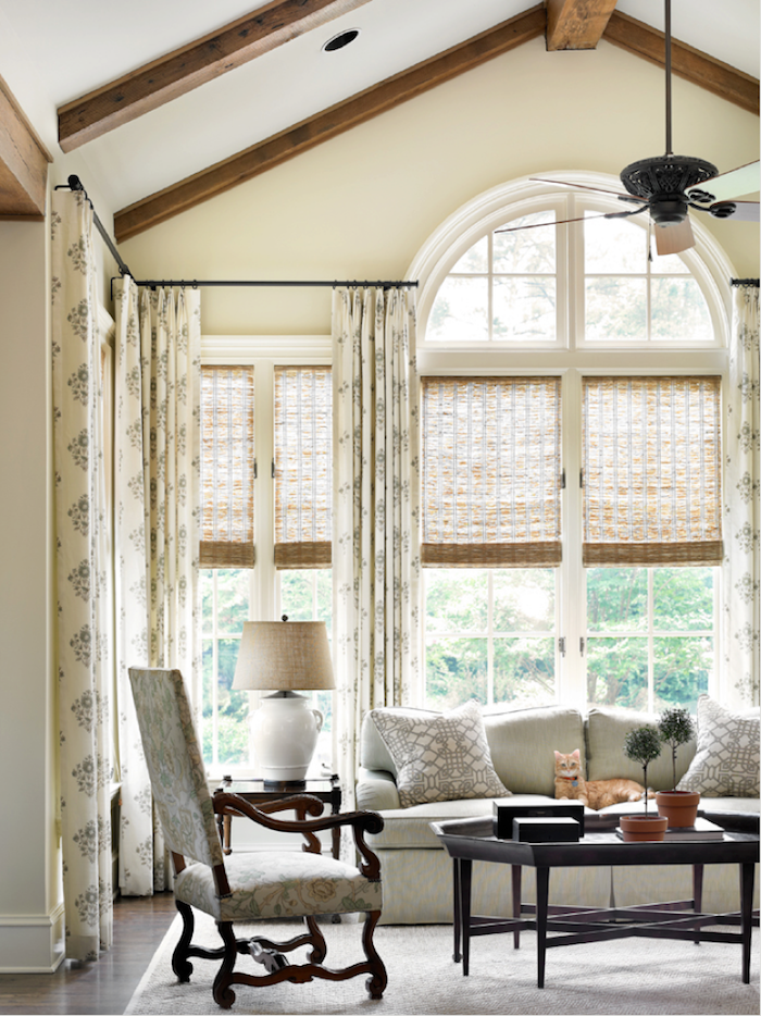 inside-mounted roller shades on tricky windows