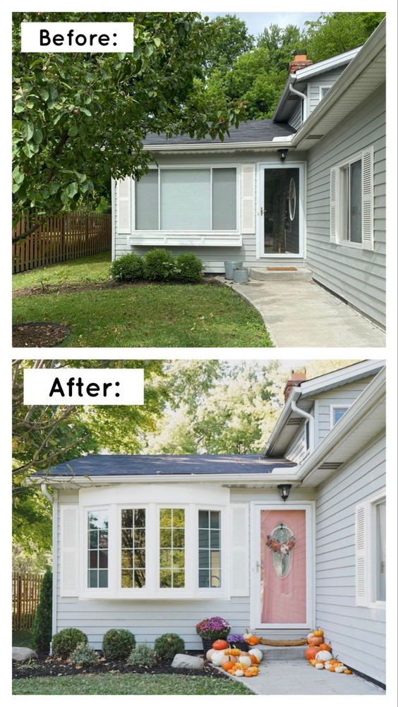 before and after of exterior windows