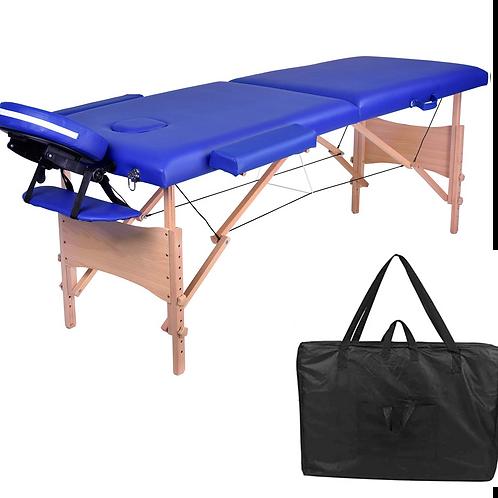 Lettino da Massaggio legno 2 zone - cm 185 x 70 - vari colori