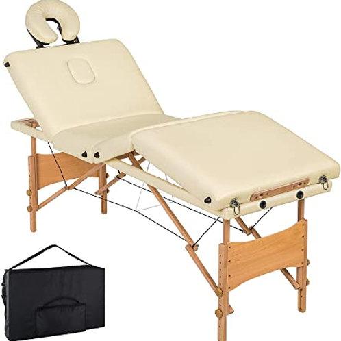 Lettino da Massaggio legno 4 zone - cm 180 x 56 - vari colori