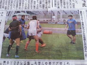 北海道新聞に取材されました