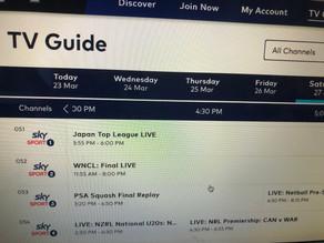 ニュージーランドでトップリーグの試合がライブ放映