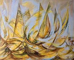 Kunst Malerei Schiffe Acryl