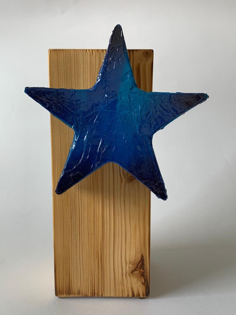 Skulptur - Frozen Star - Blue Ocean