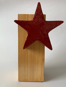 Skulptur - Frozen Star - Simply Red