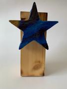Skulptur - Frozen Star - Goldenblue