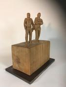 2 Freunde 2013 - Skulptur - Holz