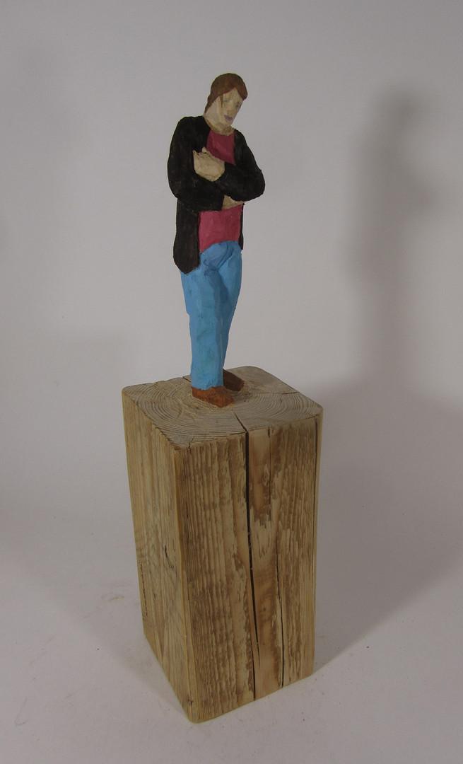 Wartend 2015 - Skulptur - Holz