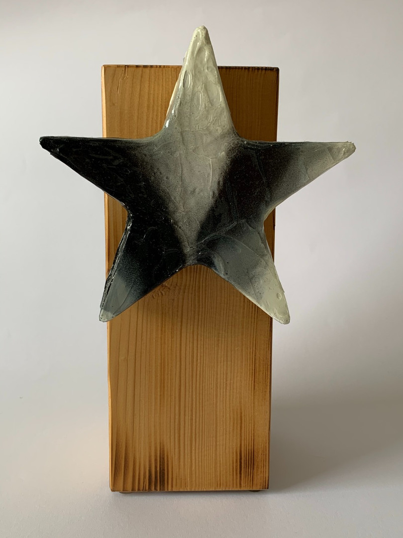 Skulptur - Frozen Star - Black & White