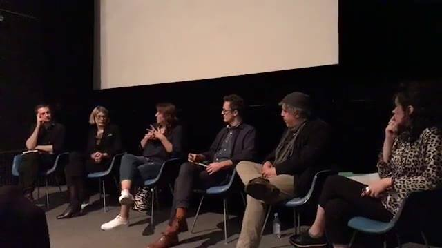 Day 1 of BHFF 2017: Panel discussion about post-Yugoslav cinema with Ron Haviv, Mirjana Karanović, Aleksandar Bošković and Ana Janevski, curated by Dijana Jelača and Amir Husak.