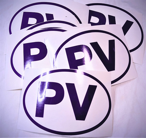 PV Oval Decal