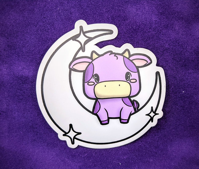 "PV Purple Cow 3"" Vinyl Decal"
