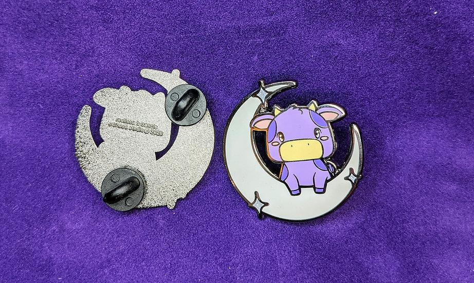 PV Purple Cow Enamel Pin