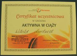 Certyfikat Aktywna ciąża cz.I