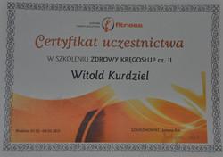 Certyfikat ZDROWY KRĘGOSŁUP